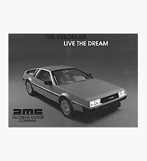 80s DeLorean advertisement  Photographic Print