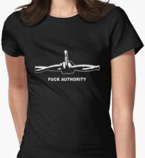 Fuck Authority (Barbwire) white print T-Shirt