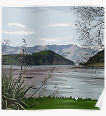 Barry's Bay, NZ by Ira Mitchell-Kirk Poster