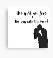 Katniss and Peeta Metal Print