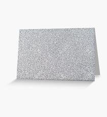 Silver glitter Greeting Card