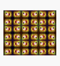 marriage of Titania; Salmon berry floral duet pattern Photographic Print