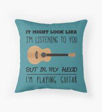 Mind guitar Throw Pillow