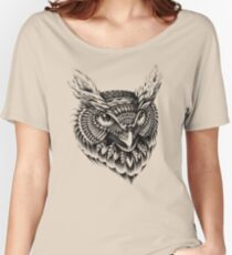 Ornate Owl Head Women's Relaxed Fit T-Shirt