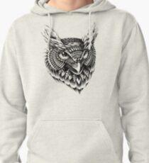 Ornate Owl Head Pullover Hoodie