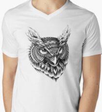 Ornate Owl Head Men's V-Neck T-Shirt