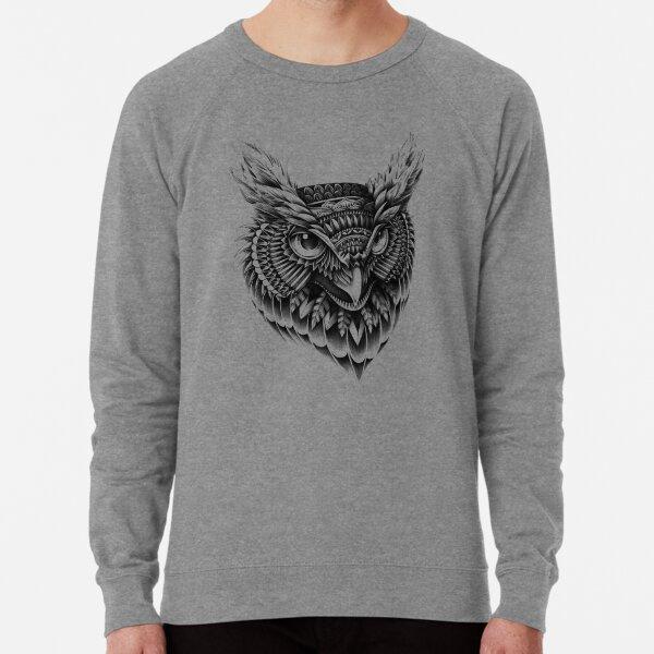 Ornate Owl Head Lightweight Sweatshirt