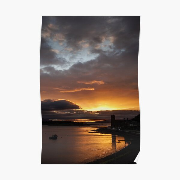 Sunset from Oban Poster