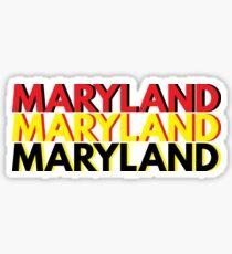 Triple MARYLAND Sticker