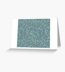 blue glitter Greeting Card
