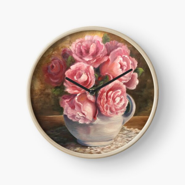 Roses and Lace Clock
