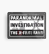 official the x-files fans facebook group Metal Print