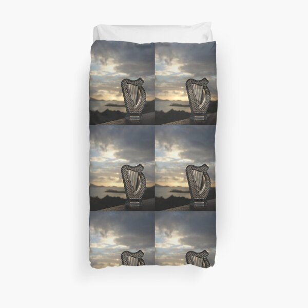 Crystal Harp at Sea Duvet Cover