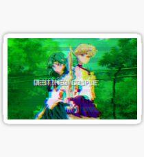 "Sailor Neptune & Uranus ""Destined Couple"" glitch Sticker"