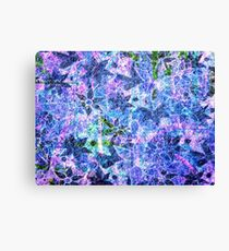 Blue and Purple Vintage Flower Pattern Canvas Print