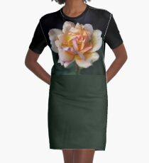 Lone Peach Rose Graphic T-Shirt Dress