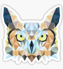 Low poly owl Sticker