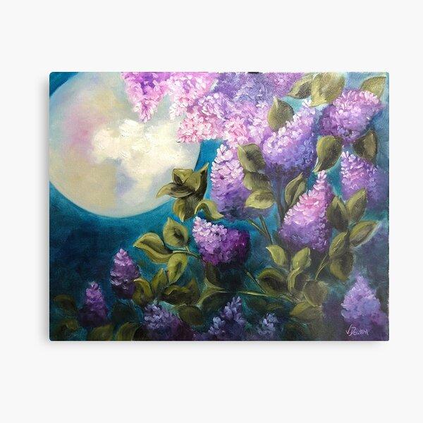 Moonlit Lilacs Metal Print