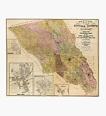Official map of Sonoma County, California (1900) Photographic Print