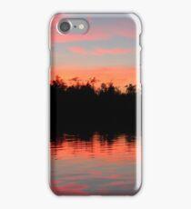 Pink Blue Peach And Black iPhone Case/Skin
