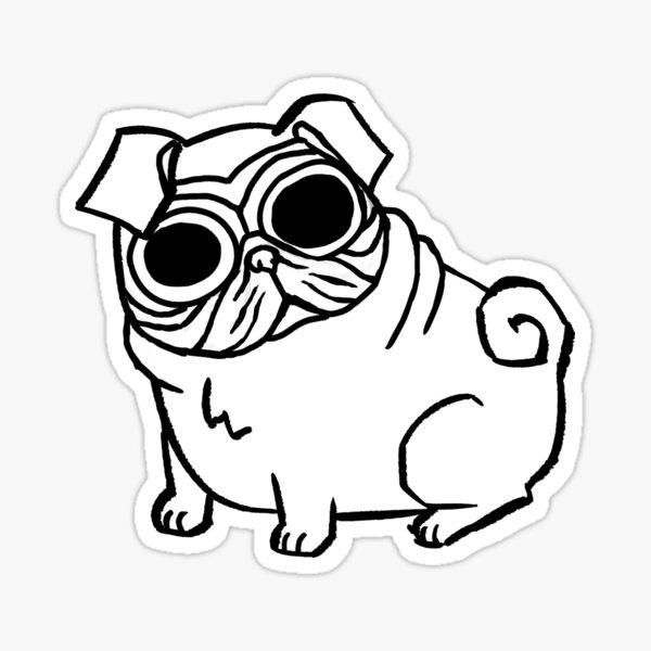 Pug-eyed Sticker