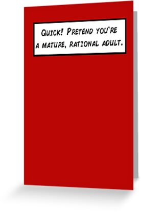 Mature rational adult greeting cards by obliqueoptimism redbubble mature rational adult by obliqueoptimism m4hsunfo