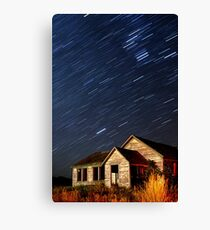 Orion Screaming Overhead - Star Trails Canvas Print