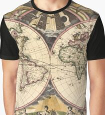 Map of the World (1672) Graphic T-Shirt
