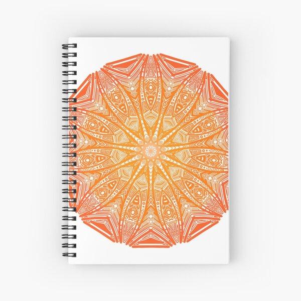 Orangen-Mandala Spiralblock