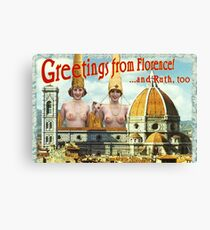 Hi from Florence Canvas Print