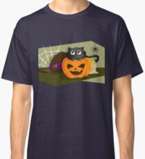 Black Cat in a Jack-o-lantern Classic T-Shirt