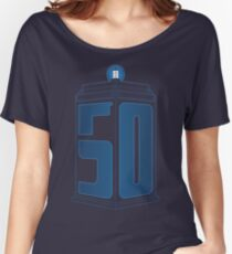 50th Anniversary TARDIS Women's Relaxed Fit T-Shirt