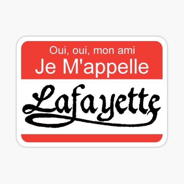 Lafayette Name Tag Sticker