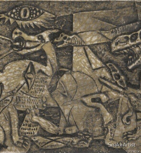Picasso V Dinosaurs by SnakeArtist