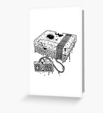 Dead System (Nintendo Entertainment System Greeting Card