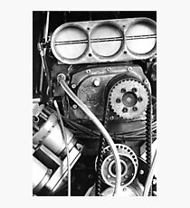 Top Fuel in Black and White Photographic Print