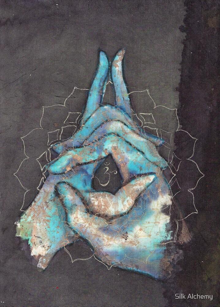 crown chakra mudra  by Silk Alchemy