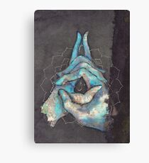 crown chakra mudra  Canvas Print