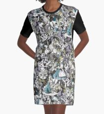 Alice wants a toke collage Graphic T-Shirt Dress