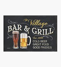 Bar and Grill Photographic Print