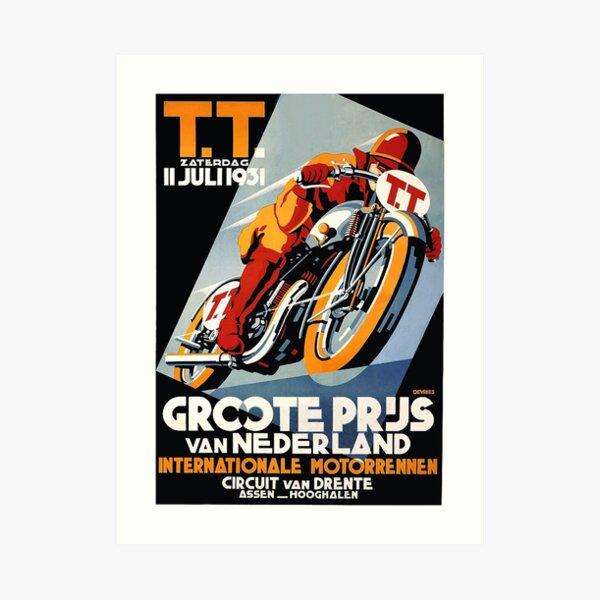 1931 Netherlands Motorcycle Race Poster Art Print
