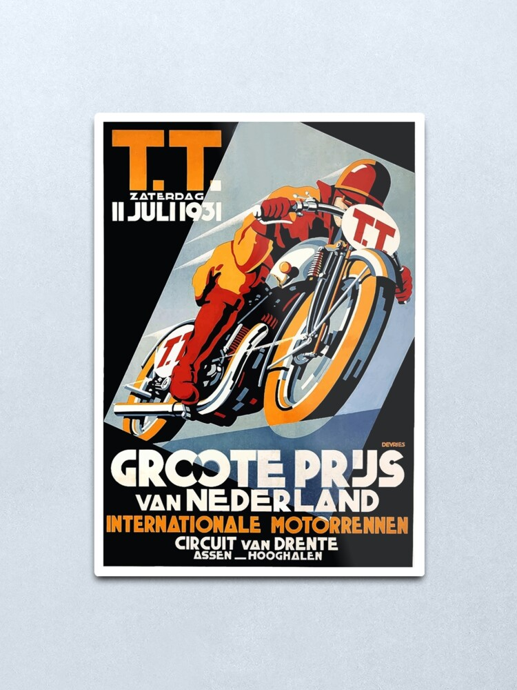 1931 Motorcycle TT Bike Race Netherlands Holland Vintage Poster Repro FREE S//H