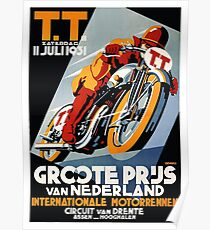 1931 Netherlands Motorcycle Race Poster Poster