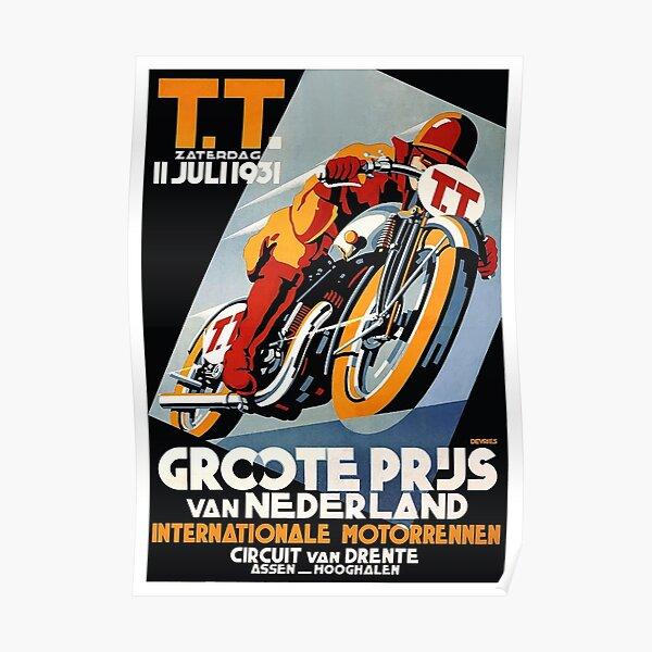 1931 Affiche de course de moto des Pays-Bas Poster