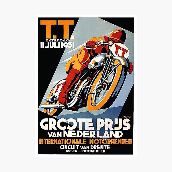 1931 Affiche de course de moto des Pays-Bas Impression photo