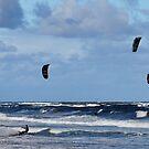 Kite Surfers - Dee Why Beach, NSW, Australia by petejsmith
