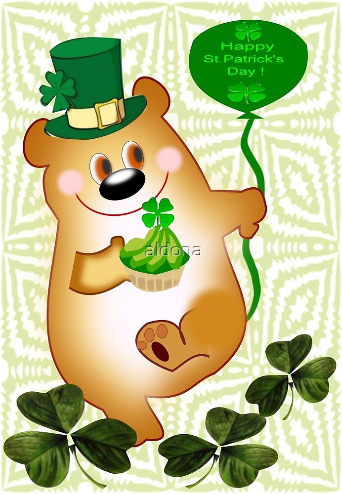 Teddy With St. Patrick's Greeting (1666 Views) by aldona