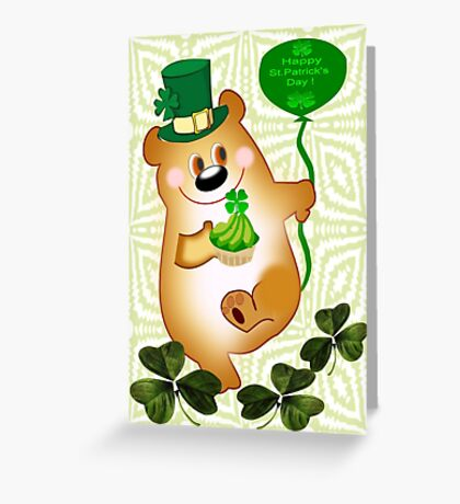 Teddy With St. Patrick's Greeting (1666 Views) Greeting Card