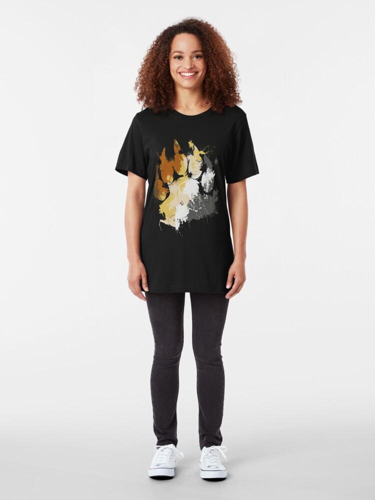 Alternate view of Gay Bear Pride Slim Fit T-Shirt