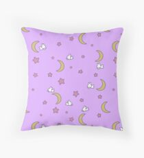 Sailor Moon inspired Bunny of the Moon Bedspread Blanket Print Throw Pillow